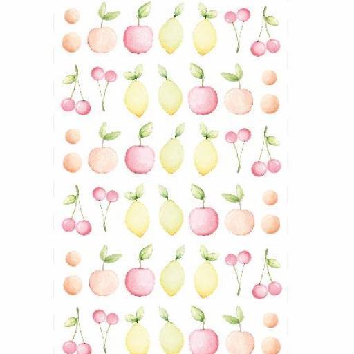 VINILO INFANTIL: frutas en tonos pastel [2]