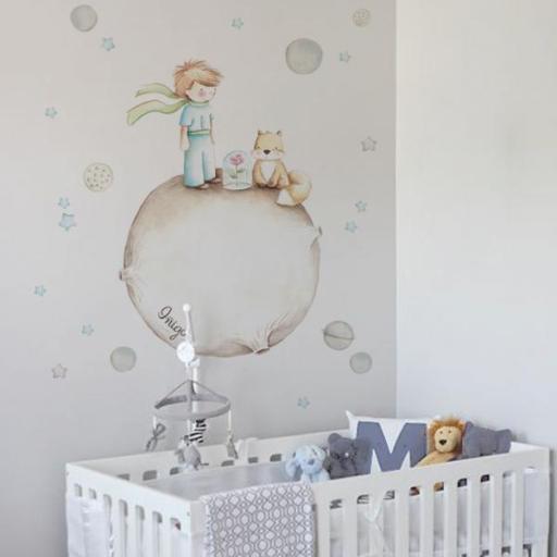 VINILO INFANTIL: El Principito en tonos grises [1]