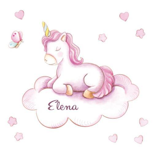 VINILO INFANTIL: Unicornio en nube [1]