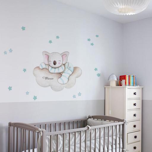 VINILO INFANTIL: Koala dormido en nube [2]
