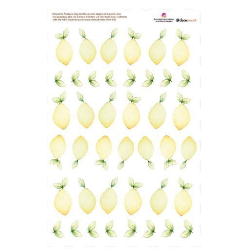 VINILO INFANTIL: limones [2]