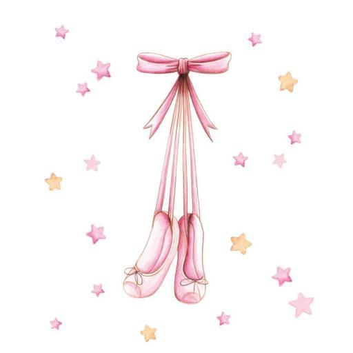 VINILO INFANTIL: Zapatillas de ballet [3]