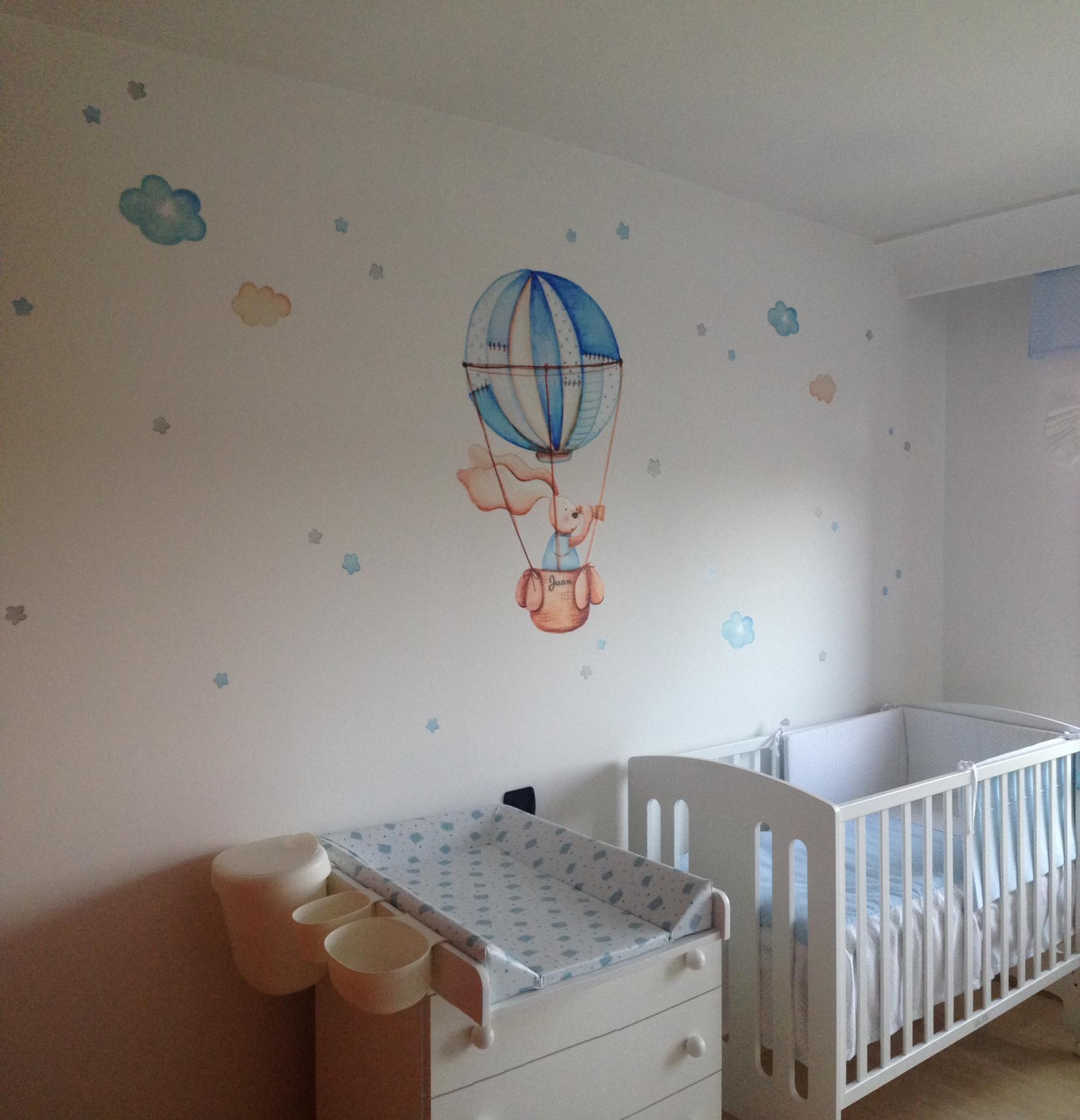VINILO INFANTIL: Conejito en globo