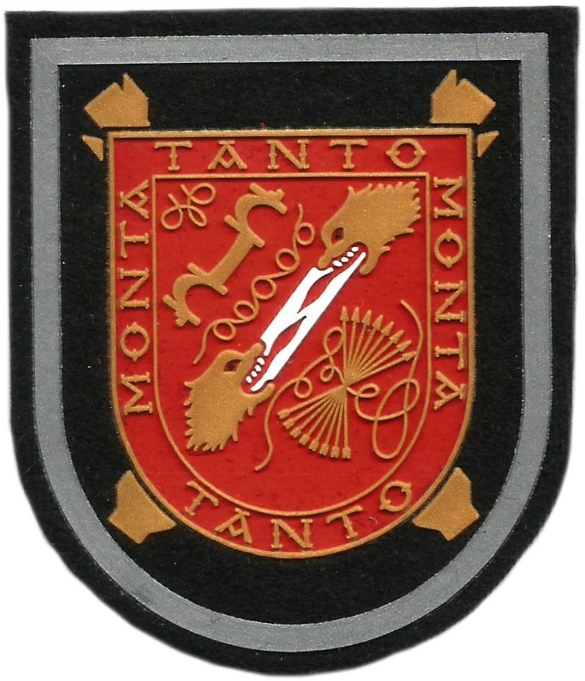Ejército de tierra legión caballería tanto monta tanto parche insignia emblema distintivo