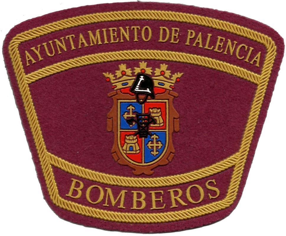 PARCHE INSIGNIA EMBLEMA DEL CUERPO DE BOMBEROS DE PALENCIA