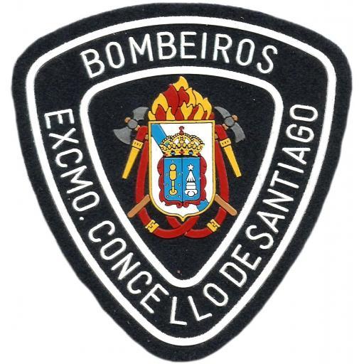 PARCHE INSIGNIA EMBLEMA DEL CUERPO DE BOMBEROS DE SANTIAGO DE COMPOSTELA