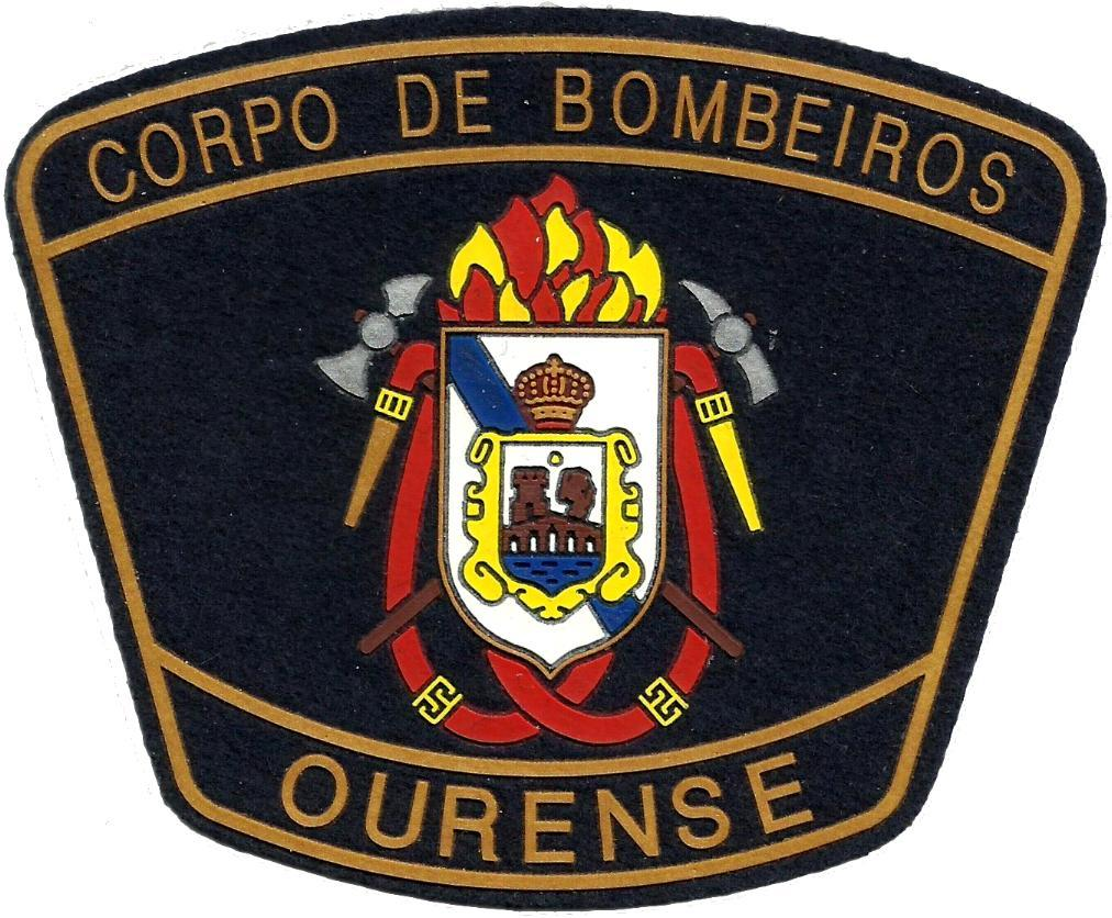 PARCHE INSIGNIA EMBLEMA DEL CUERPO DE BOMBEROS DE OURENSE
