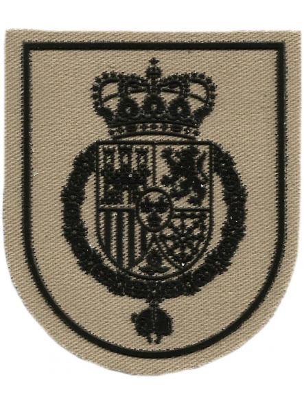 Guardia Real Felipe VI parche insignia emblema distintivo camuflaje arena