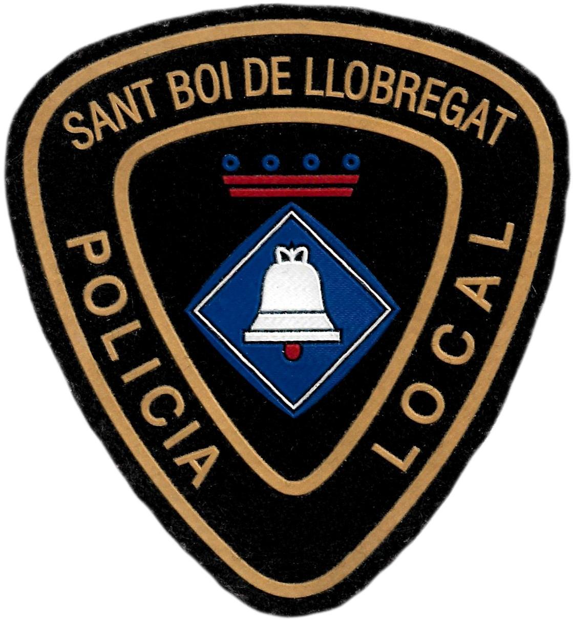 Policía local Sant Boi de Llobregat parche insignia emblema distintivo