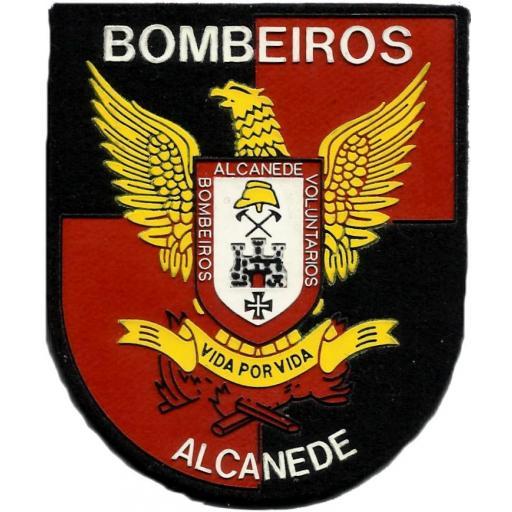 PARCHE INSIGNIA EMBLEMA BOMBEROS DE ALCANEDE - PORTUGAL