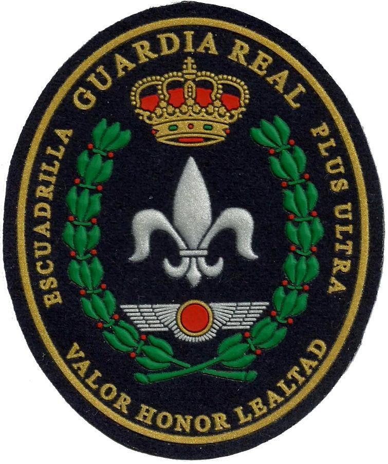 Guardia Real Escuadrilla Plus Ultra Valor Honor lealtad parche insignia emblema distintivo