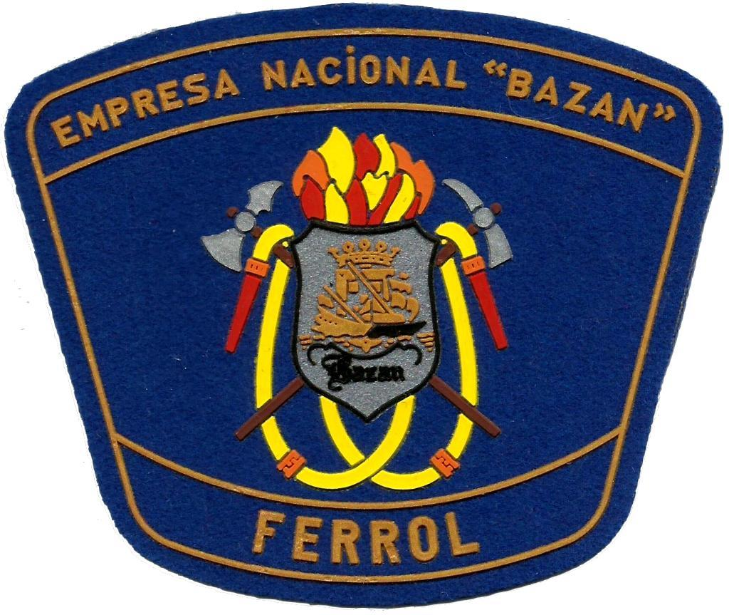 PARCHE INSIGNIA EMBLEMA DEL CUERPO DE BOMBEROS DE LA EMPRESA NACIONAL BAZÁN EN FERROL