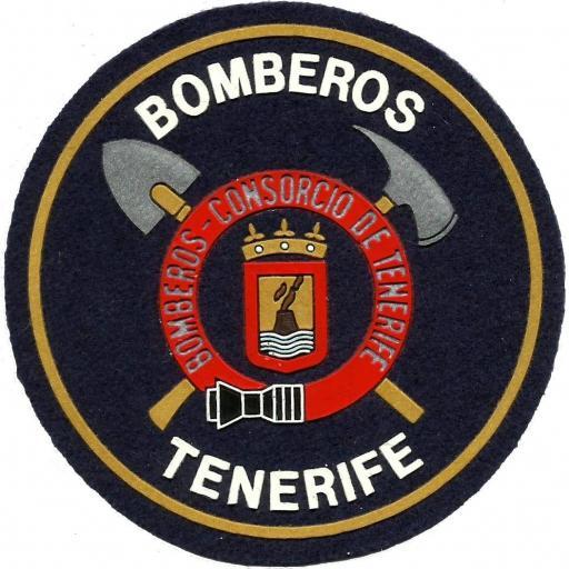 PARCHE INSIGNIA EMBLEMA DEL CUERPO DE BOMBEROS DE SANTA CRUZ DE TENERIFE