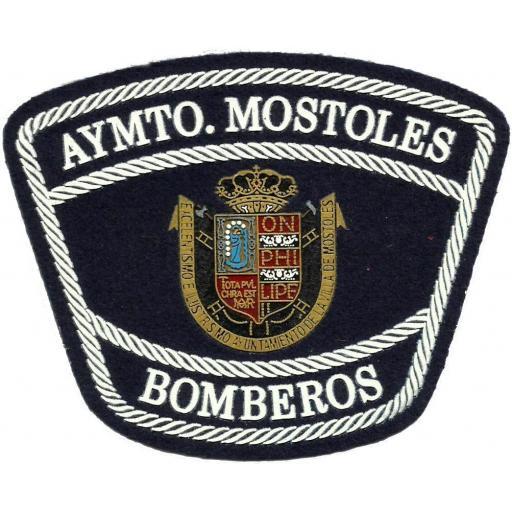 Bomberos Ayuntamiento de Móstoles parche insignia emblema distintivo