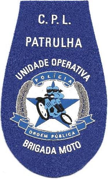 PARCHE POLICÍA DE ORDEN PÚBLICO DE ANGOLA PATRULLA BRIGADA MOTO