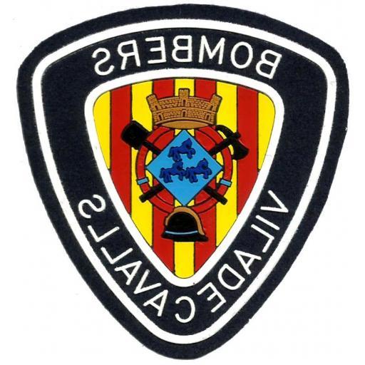 Bomberos Viladecavalls escrito al reves parche insignia emblema distintivo