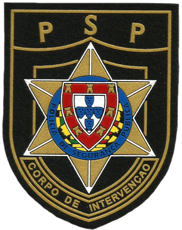 PARCHE POLICÍA DE SEGURANÇA PUBLICA DE PORTUGAL CUERPO DE INTERVENCIÓN UIP