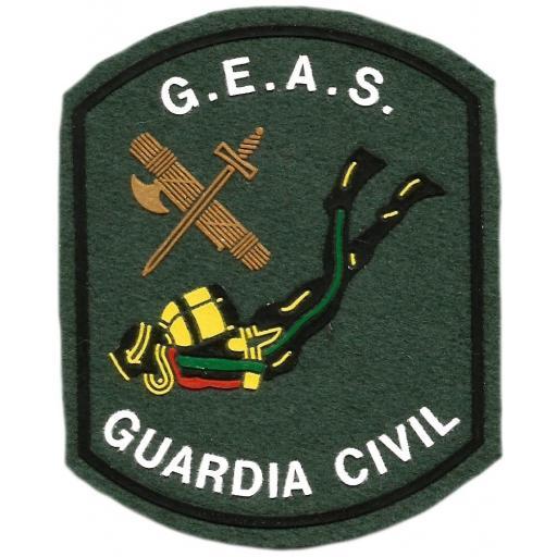 PARCHE GUARDIA CIVIL GEAS GRUPO ESPECIAL ACCIONES SUBAQUATICAS VERDE [0]