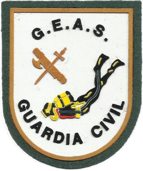 Guardia Civil GEAS grupo especial de acciones subacuáticas parche insignia emblema distintivo