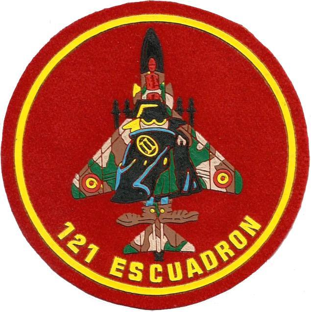 PARCHE EJERCITO DEL AIRE ESCUADRÓN 121