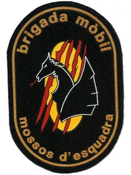 Policía de Cataluña Mossos d´esquadra brigada móvil antidisturbios parche insignia emblema distintivo