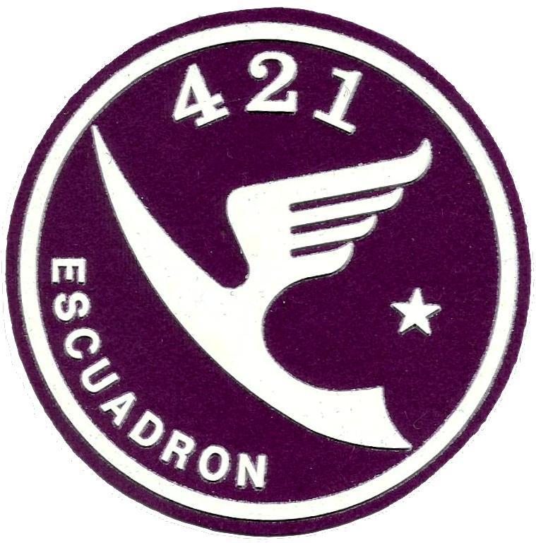 PARCHE EJERCITO DEL AIRE ESCUADRÓN 421