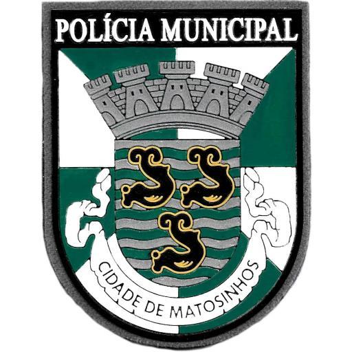 POLICÍA MUNICIPAL DE LA CIUDAD DE MATOSINHOS PARCHE INSIGNIA EMBLEMA