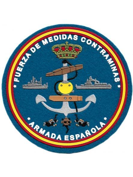 Armada Española Fuerza de medidas contraminas parche insignia emblema distintivo del ejército