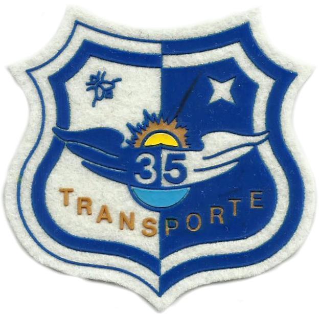 PARCHE EJERCITO DEL AIRE ALA 35 TRANSPORTE