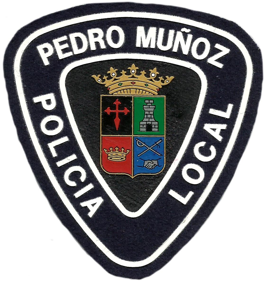 POLICÍA LOCAL PEDRO MUÑOZ PARCHE INSIGNIA EMBLEMA DISTINTIVO