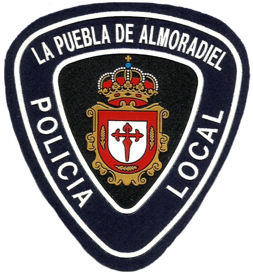 POLICÍA LOCAL LA PUEBLA DE ALMORADIEL PARCHE INSIGNIA EMBLEMA DISTINTIVO