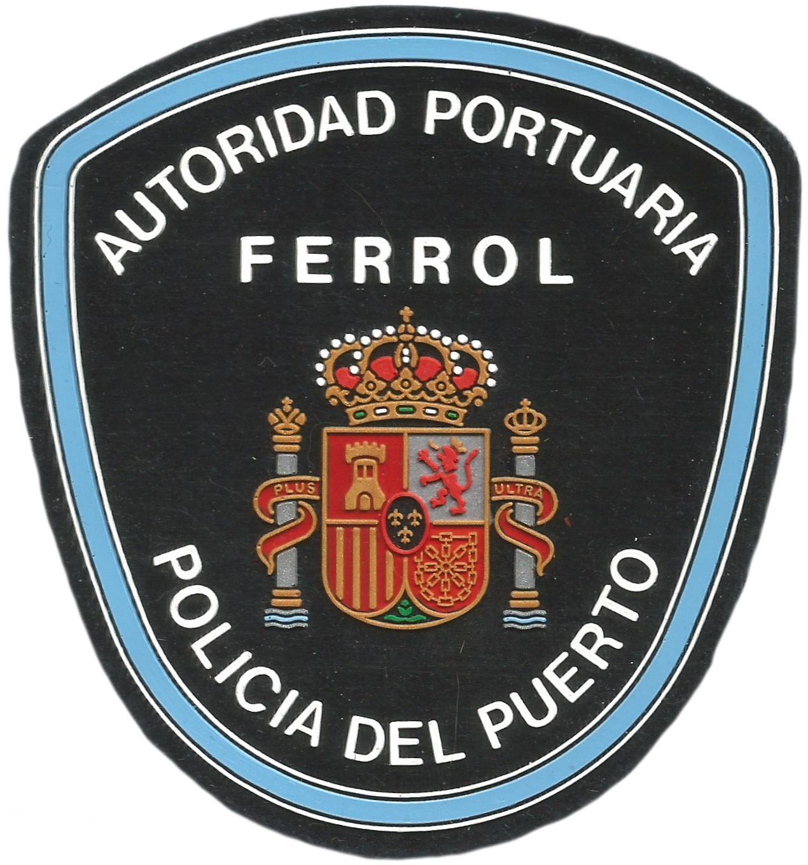 POLICÍA AUTORIDAD PORTUARIA DE FERROL PARCHE INSIGNIA EMBLEMA DISTINTIVO