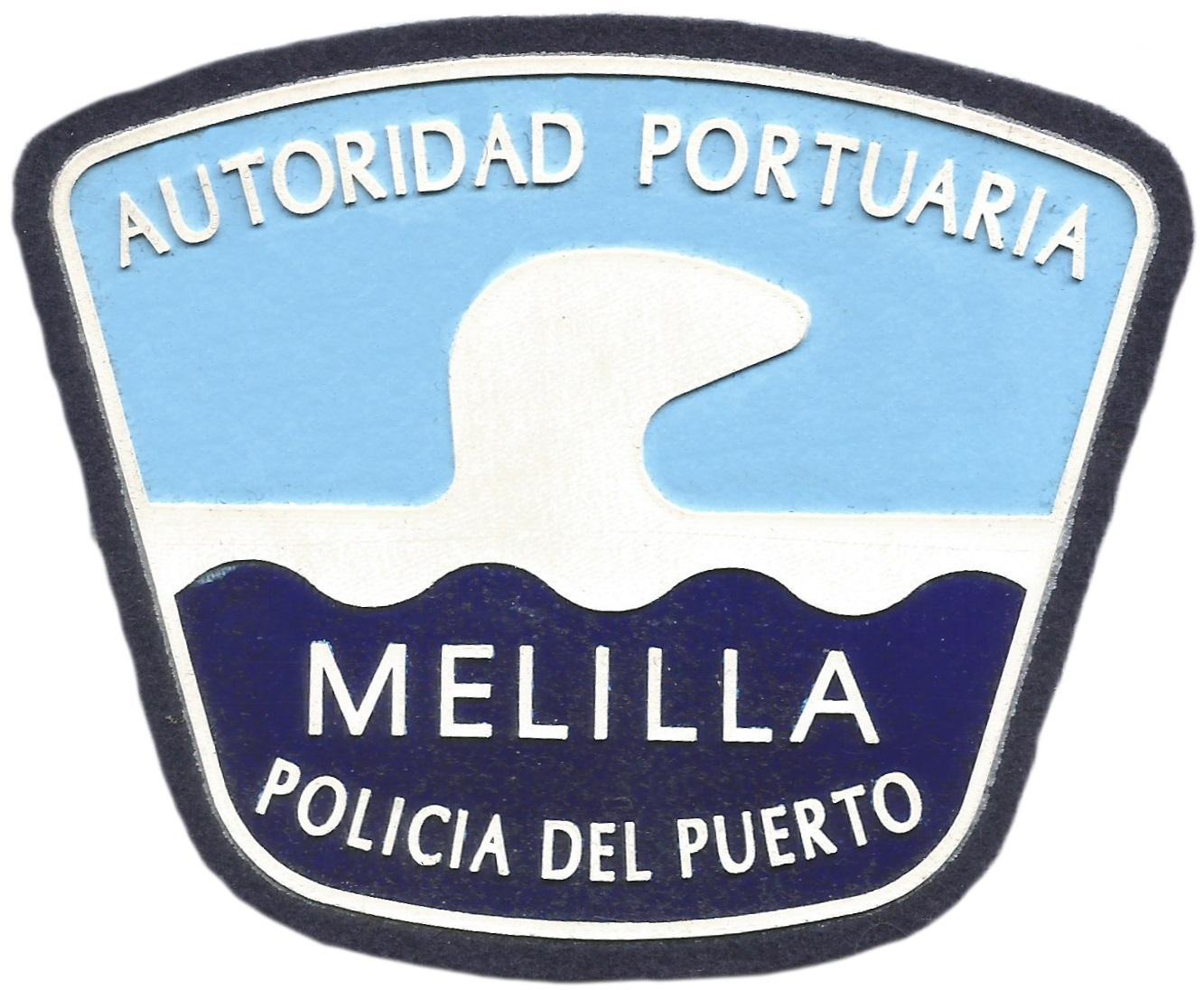 POLICÍA AUTORIDAD PORTUARIA DE MELILLA PARCHE INSIGNIA EMBLEMA DISTINTIVO