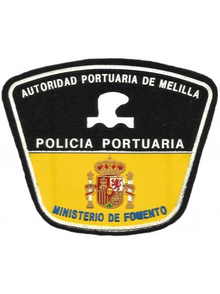 POLICÍA PORTUARIA DE MELILLA MINISTERIO DE FOMENTO PARCHE INSIGNIA EMBLEMA DISTINTIVO