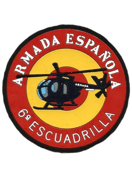 EJERCITO ARMADA ESPAÑOLA 6 ESCUADRILLA PARCHE INSIGNIA EMBLEMA DISTINTIVO