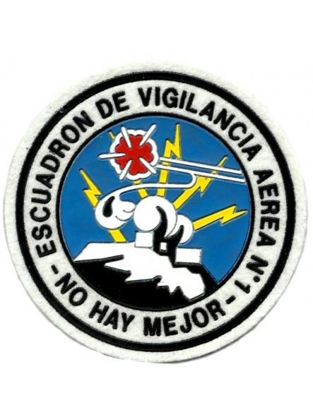 EJERCITO DEL AIRE ESCUADRÓN DE VIGILANCIA AÉREA 1 PARCHE INSIGNIA EMBLEMA DISTINTIVO