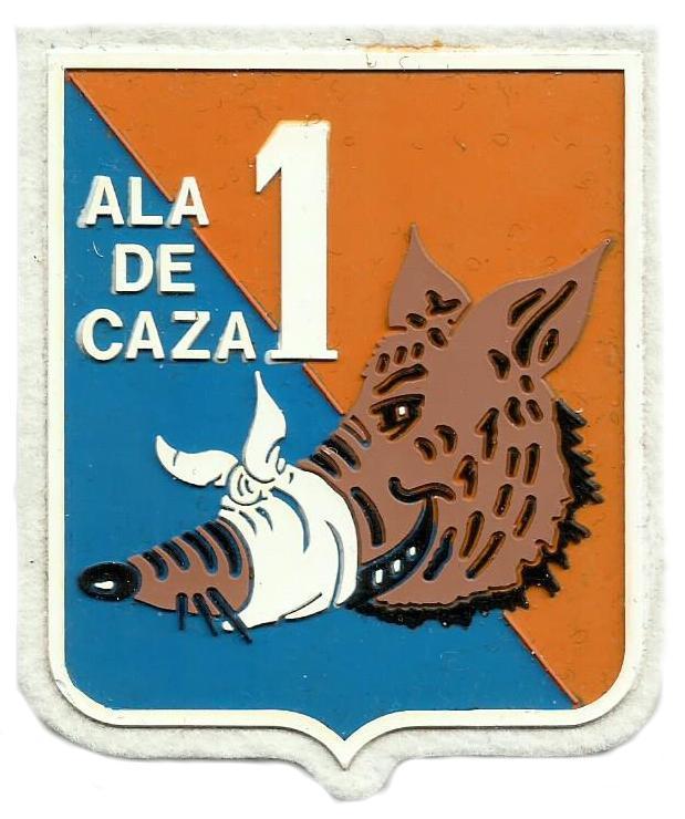 Ejército del aire Ala de caza 1 parche insignia emblema distintivo