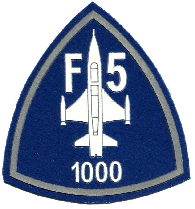 EJERCITO DEL AIRE CAZA F-5 1000 HORAS PARCHE INSIGNIA EMBLEMA DISTINTIVO