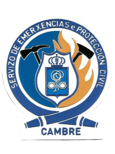 BOMBEROS SERVICIO DE EMERGENCIAS Y PROTECCIÓN CIVIL DE CAMBRE PARCHE INSIGNIA EMBLEMA DISTINTIVO