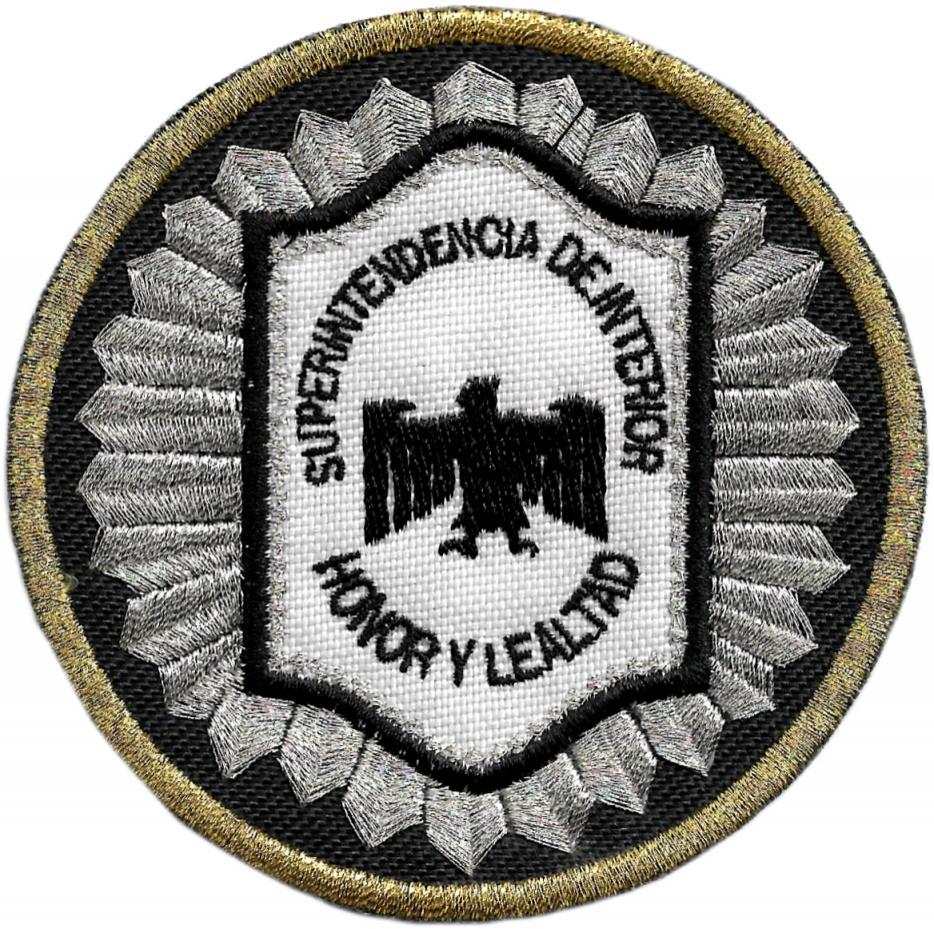 POLICÍA FEDERAL ARGENTINA SUPERINTENDENCIA DE INTERIOR HONOR Y LEALTAD PARCHE INSIGNIA EMBLEMA DISTINTIVO