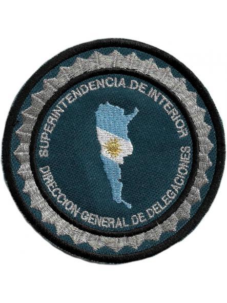 POLICÍA FEDERAL ARGENTINA SUPERINTENDENCIA DE INTERIOR PARCHE INSIGNIA EMBLEMA DISTINTIVO