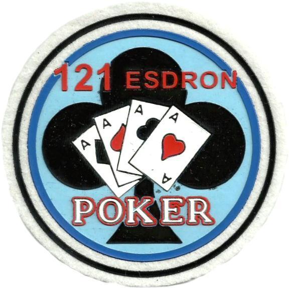 Ejército del aire escuadrón 121 póker parche insignia emblema distintivo