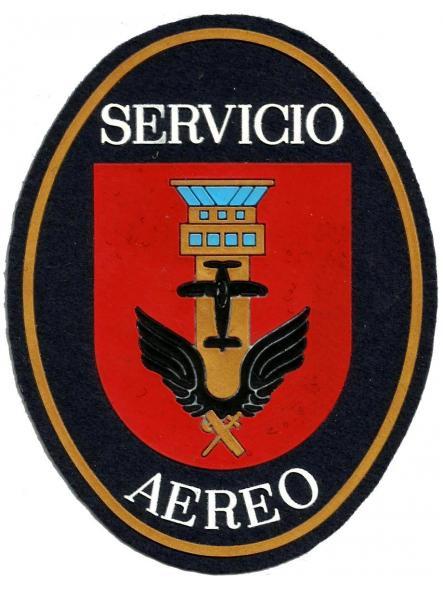 Guardia civil servicio aéreo antiguo modelo parche insignia emblema distintivo