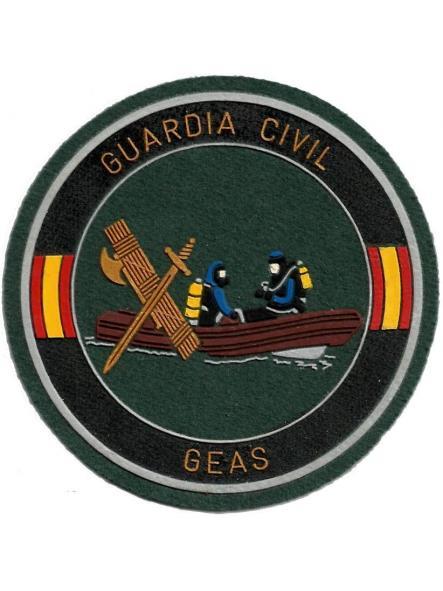 Guardia civil GEAS grupo especial acciones subacuáticas lancha parche insignia emblema distintivo