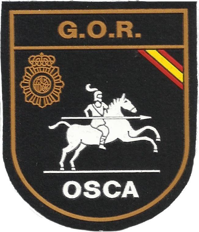 Policía nacional CNP grupo operativo de respuesta gor osca Huesca parche insignia emblema distintivo