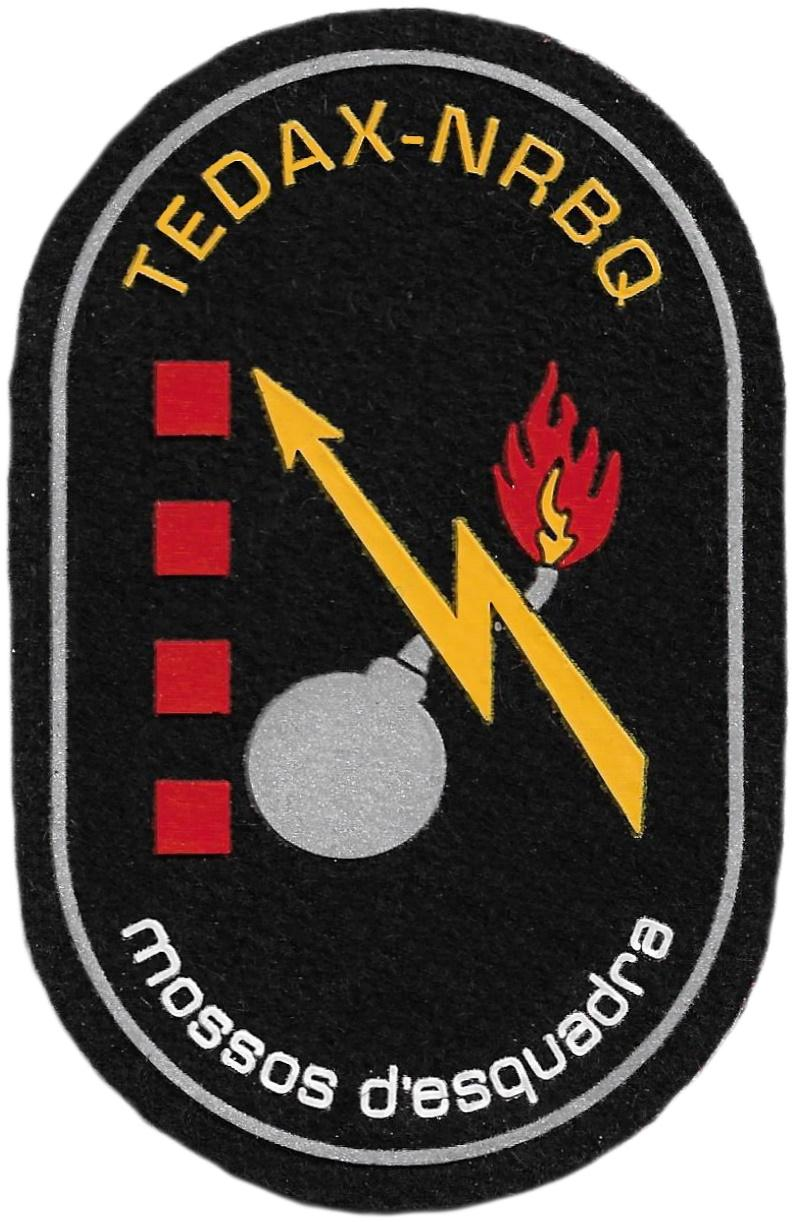 Policía Mossos d´esquadra tedax - nrbq artificieros parche insignia emblema distintivo
