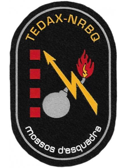 Policía Mossos d´esquadra tedax - nrbq artificieros parche insignia emblema distintivo [0]