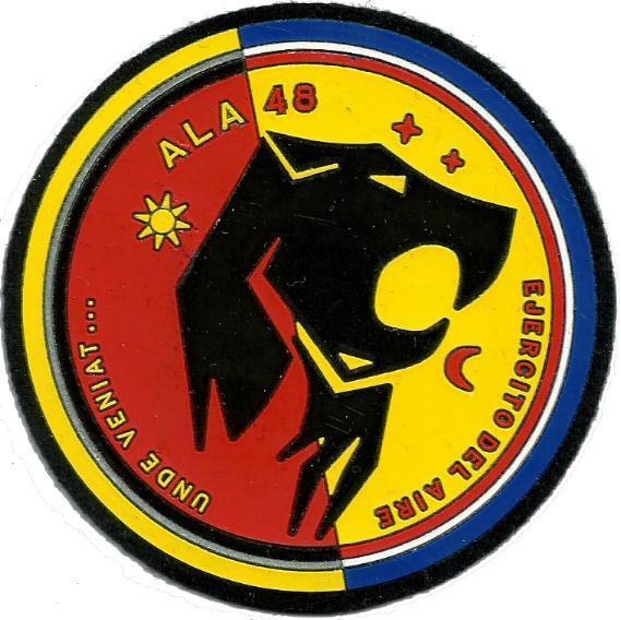 Ejército del aire ala 48 parche insignia emblema distintivo