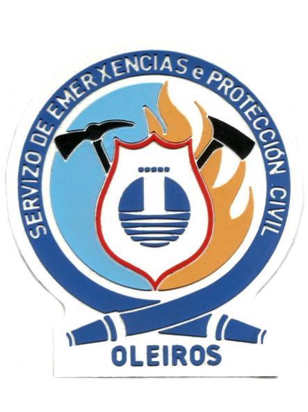 Bomberos servicio extinción de incendios y salvamento de Oleiros parche insignia emblema distintivo