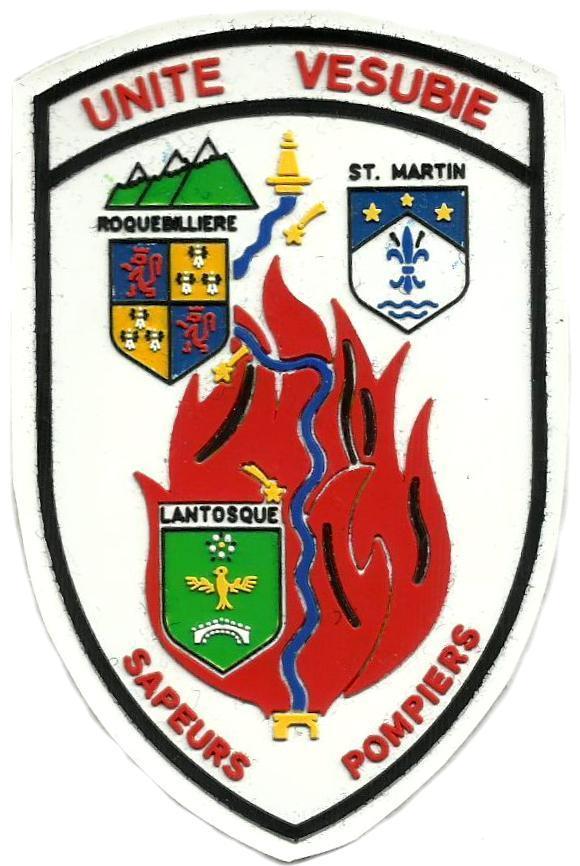 Bomberos sapeurs pompiers Unidad Vesubio Francia parche insignia emblema distintivo